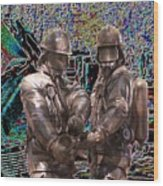 Fire Fighters Memorial Seattle Wood Print