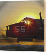 Fire Fighting Aircraft Wood Print