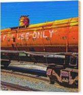 Fire Fighting Tanker Wood Print