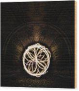Fire Flower Tunnel Wood Print