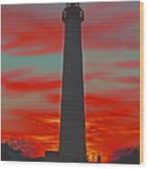 Fire Frames The Lighthouse Wood Print