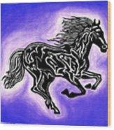 Fire Horse 2 Wood Print