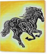 Fire Horse 3 Wood Print