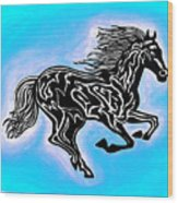 Fire Horse 5 Wood Print
