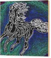 Fire Horse Burn 3 Wood Print