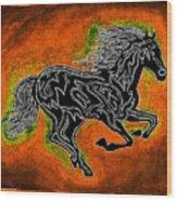 Fire Horse Neona 4 Wood Print