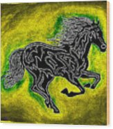 Fire Horse Neona 5 Wood Print
