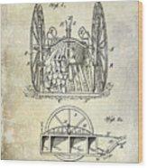 Fire Hose Cart Patent Wood Print