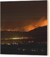 Fire In The Mountains No Lightning In The Air  Wood Print by James BO  Insogna