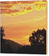 Fire In The Sky 1 Wood Print
