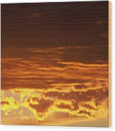 Fire In The Sky 2 Wood Print