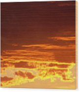 Fire In The Sky 3 Wood Print