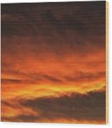 Fire In The Sky Two Wood Print