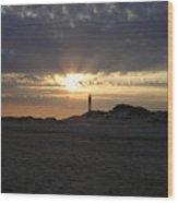 Fire Island Lighthouse At Sunset Wood Print