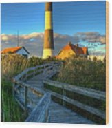 Fire Island Lighthouse Before Sunset Wood Print