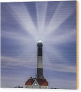 Fire Island Lighthouse Twilight Wood Print