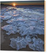Fire Island Winter Wood Print