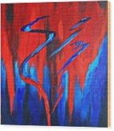 Fire Lake Wood Print