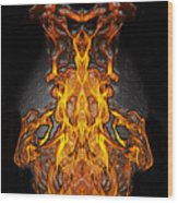 Fire Leather Wood Print