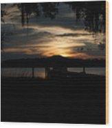 Fire Light Sunset Wood Print