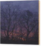 Fire Morning Wood Print