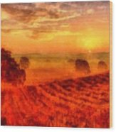 Fire Of A New Day Wood Print