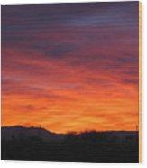 Fire Of Dawn Wood Print