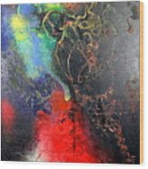 Fire Of Passion Wood Print