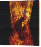 Fire One  Wood Print