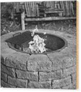 Fire-pit Wood Print