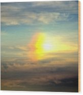 Fire Rainbow Wood Print