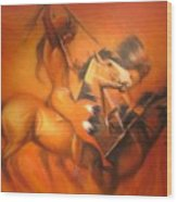 Fire Riders Wood Print