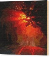 Fire Road Wood Print
