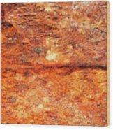 Fire Rock Wood Print