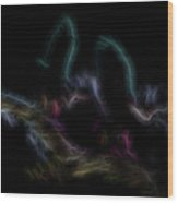 Fire Spirits 4 Wood Print