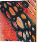 Fire Stones Wood Print