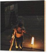 Fire Throw Wood Print