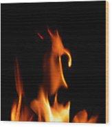 Fire Toon Wood Print