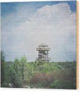 Fire Tower Wood Print