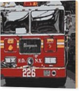 Fire Truck Color 6 Wood Print