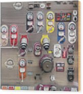 Fire Truck Controls Wood Print