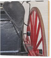 Fire Wagon Wood Print