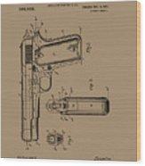 Firearm Handgun Wood Print