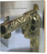 Firearms Gold Colt Single Action Army 45cal Revolver Wood Print