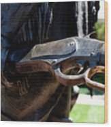 Firearms William Cody Statue Cody Wyoming Wood Print