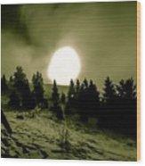 Fireball Ascension Wood Print