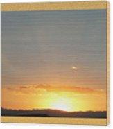 Fireball Sunset Wood Print