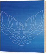 Firebird Blueprint Wood Print