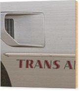 Firebird Trans Am Front Corner Panel Vent Wood Print