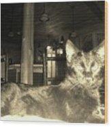 Firece Cat Wood Print